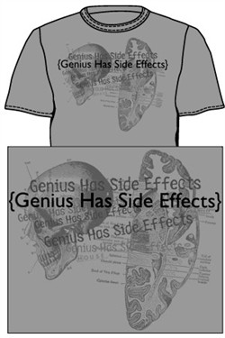 House MD  T-shirt: Genius Has Side Effects