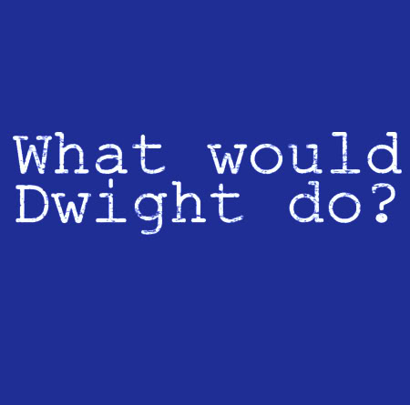 The Office T-shirt: What Would Dwight Do?